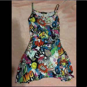 Brazza Wardrobe Collection: Graphic Art Mini-Dress